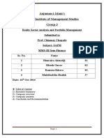 Mohib Final SAPM Realty Sectore Report