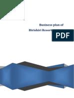 a report on Business Plan of Birishiri Resort Project