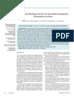 Calidad Microbiologica Del Aire de Una Unidad de Preparados Farmaceuticos Esteriles(1)