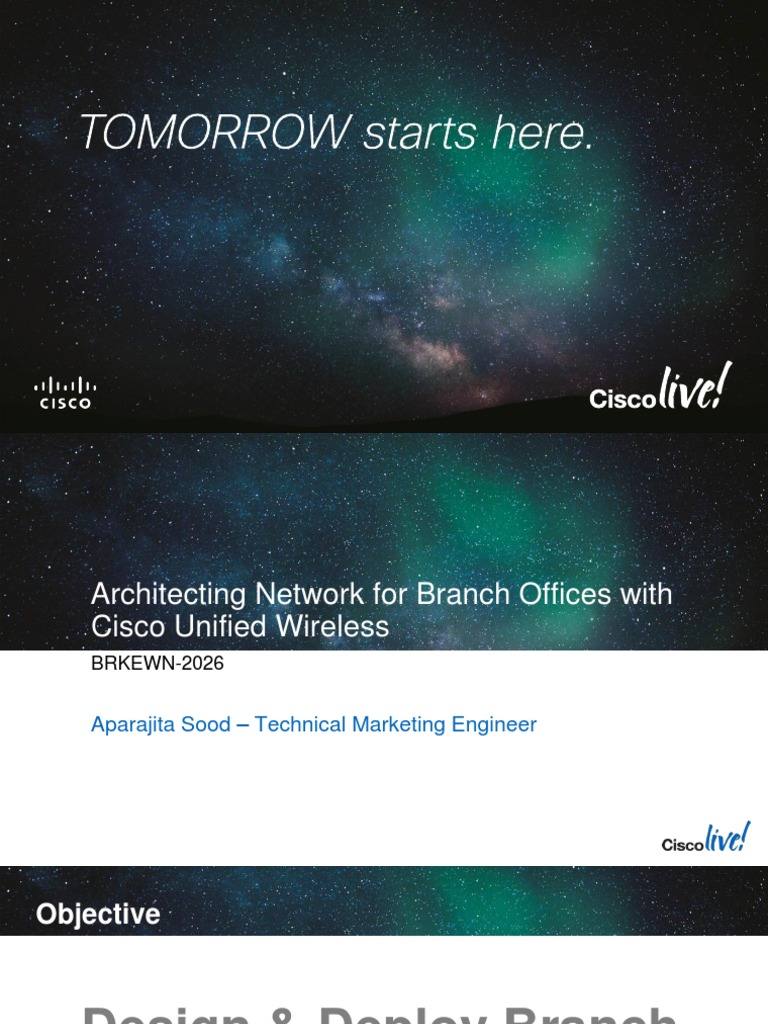 Architecting Network for Branch Offices With Cisco Unified