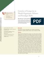 Genetics of Longevity