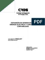 D-077-14 Expansión en Generación de Energía Eléctrica y Cxc