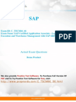 SAP C_TSCM66_66 Exam Real Questions and Answers