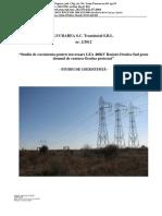 Studiu de coexistenta pentru traversare LEA 400kV Rosiori-Oradea Sud peste  drumul de centura Oradea proiectat