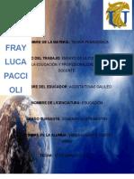 """Ensayo de La Cosmovisiã""""n de La Educacion"""
