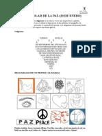 Caligramas para el Día de la Paz