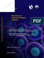 RECENT ADVANCES in ENVIRONMENTAL and BIOLOGICAL ENGINEERING