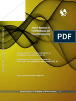 RECENT ADVANCES in FLUID MECHANICS and THERMAL ENGINEERING