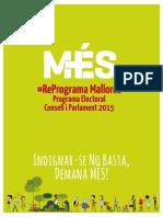 Programa MES 2015 - Elecciones autonómicas