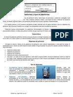 Tipos de Plataformas Petroleras