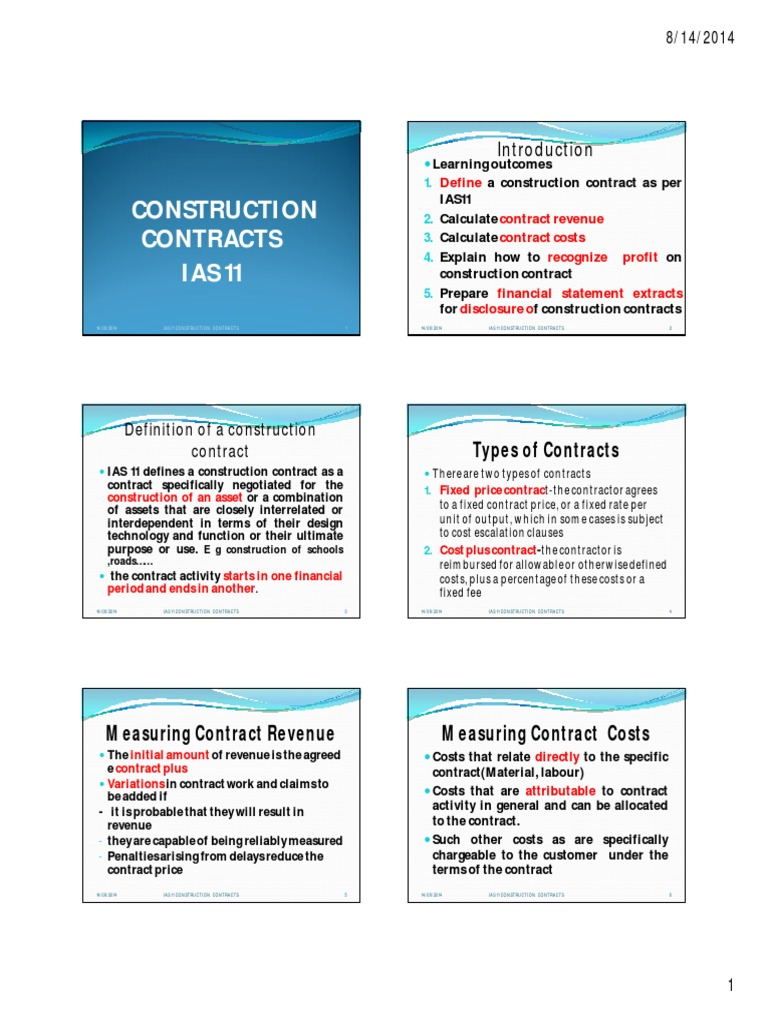 Construction Contracts | Revenue | Profit (Accounting)
