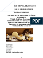 Informe del analisis de riesgo en una industria quesera