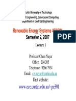 Overview Renewable Energy Systems 402