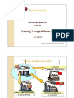 Licensing, Strategic Alliances, FDI