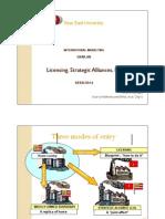 Licensing, Strategic Alliances, FDI