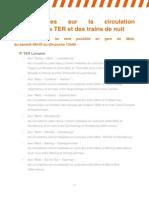 Interruption de la circulation en gare de Metz - 04 Et 05 Avril 2015