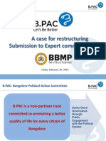 Suggestions on BBMP Restructuring - BPAC
