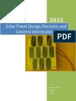 Solar Panel Documentation