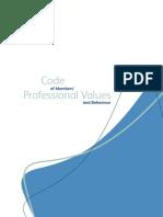 Code of Professional Values Behaviour