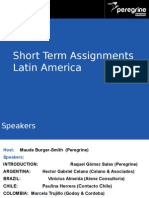 Peregrine Webinar Slides - Short Term Assignments in Latin America