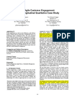 Agile Customer Engagement a Longitudinal Qualitative Case Study