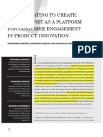 Collaborating to Create the Internet as a Platfrom for Customer Engagement in Product Innovation