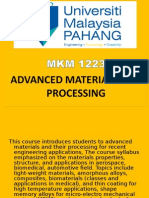 Advanced Materials and Processing