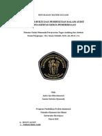 Masalah Bukti dan Pembuktian Dalam Audit serta Kertas Kerja Pemeriksaan