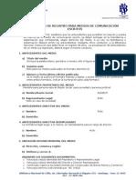 Formulario Registro Medios