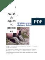 instalaciones de saneamiento en bolivia