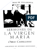Santo Tomas de Villanueva - Sermones de La Virgen Maria Y Obras Castellanas (28104)