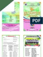 JFK SPED Center Recognition Program 2015 (Printable Version)