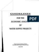 Economic Analysis Water Supply Projects