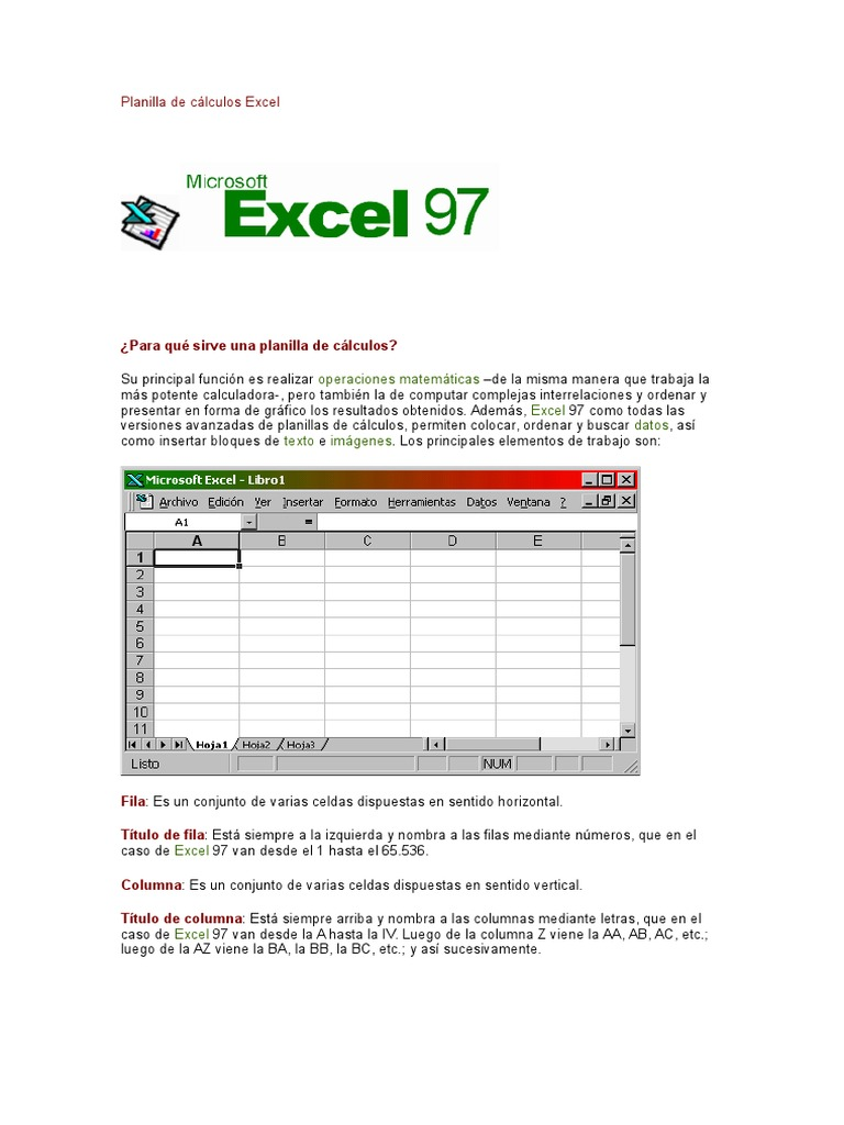 Planilla de Cálculos Excel