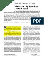 How Brand Community Practices Create Value