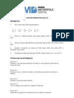 Exercicios Matematica e TI