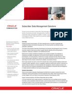 Communications Subscriber Data Management