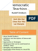 Democratic Teaching Rudolf Dreikers