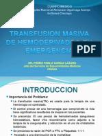 Transfusion Masiva Pedro Garcia 2011