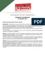 Grands Axes Programme Pour Conf Presse