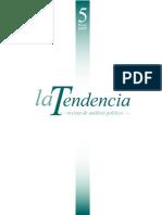 Posneoliberalismo y Neodesarrollismo (Tendencia-2007)