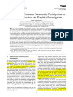 The Impact of Customer Community Participation on Customer Behaviors an Empirical Investigation