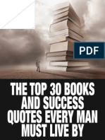 The Top 30 Books and Success Quotes Every Man Must Live By