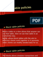 Block Table Policies