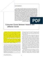 Consumer Choice Between Hedonic and Utilitarian Goods