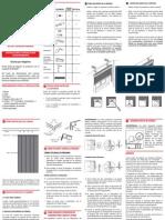 Instrucciones de Instalación Persiana Vertical de PVC