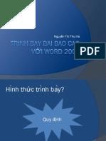 Trình bày báo cáo word 2007