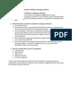 checklist for writing an emergency 504 plan