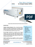 Paradise Datacom Fiber Optic Interface for Compact Outdoor SSPAs 205489 RevN