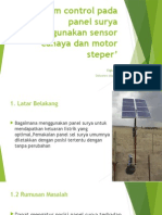 perancangan kontrol panel surya
